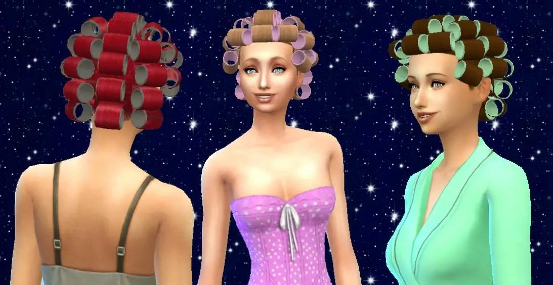 Sims 4 Hairs Mystufforigin Hair Rollers Conversion