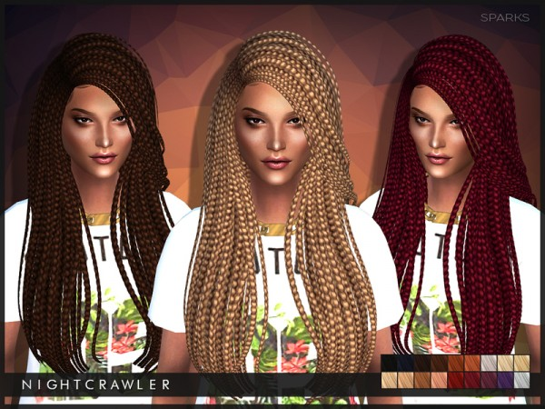 Sims 4 Hairs  The Sims Resource Sparks million braids hairstyle by Nightcrawler