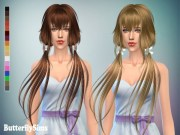 sims 4 hairs butterflysims anime