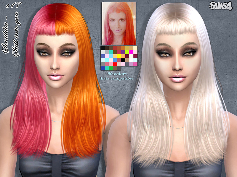 Sims 4 Hairs Sintiklia Sims Still Into You Hairstyle 17