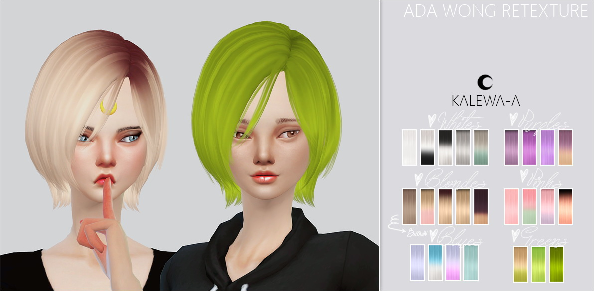 Sims 4 Hairs Kalewa A Ada Wong Hairstye Retextured