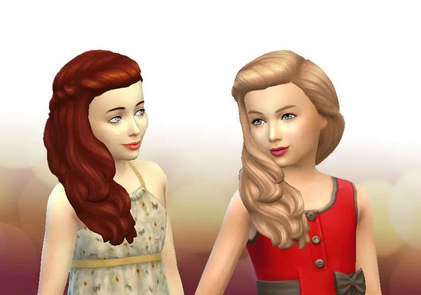 Sims 4 Hairs  Mystufforigin Long Braid Curled hair for Girls