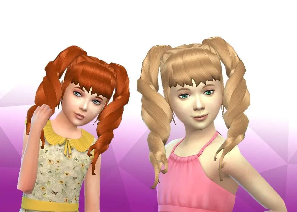 Sims 4 Hairs  Mystufforigin Twist Pigtails for Girls