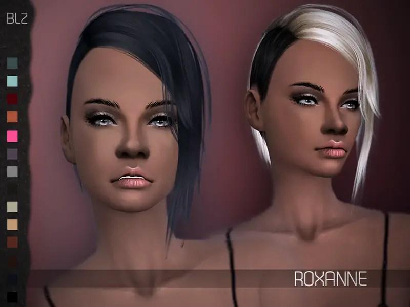 Sims 4 Hairs The Sims Resource Roxanne Hair Retextured