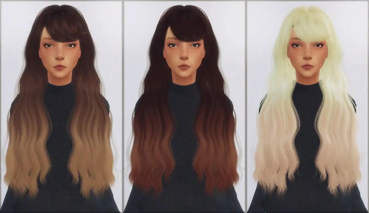 Sims 4 Hairs  Ellie Simple LeahLiliths Intention hair