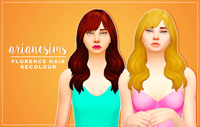 Sims 4 Hairs  Ariane Sims Florence hair recolored