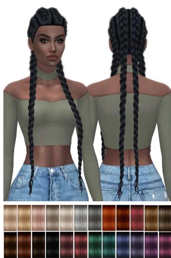 Sims 4 Hairs  Kenzar Sims Nexus hair retextured