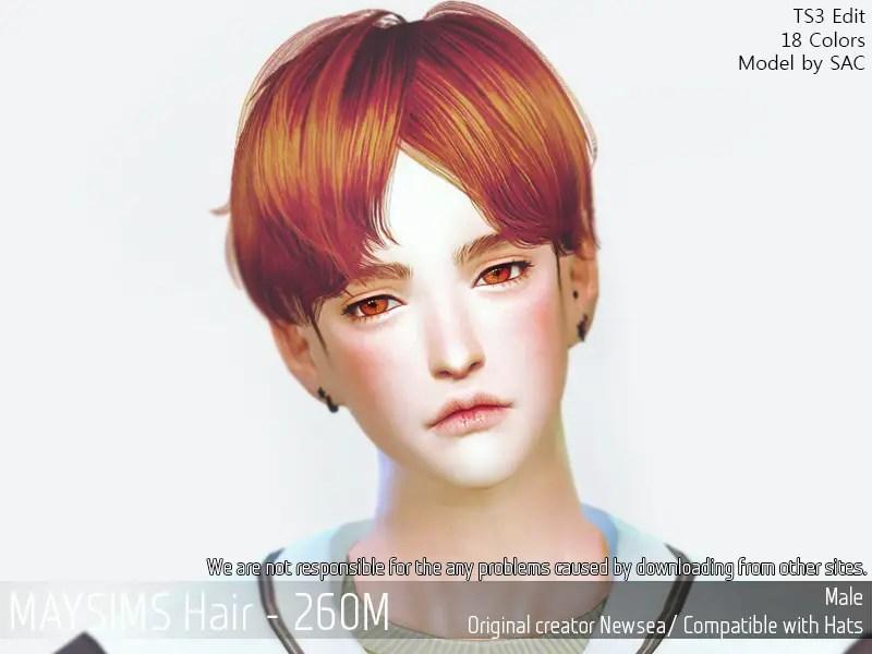Sims 4 Hairs MAY Sims May 260M Hair Retextured