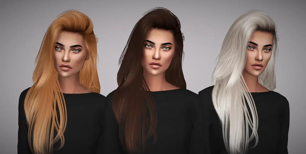 Sims 4 Hairs Aveline Sims Hallows Raon 36 Hair Retextured