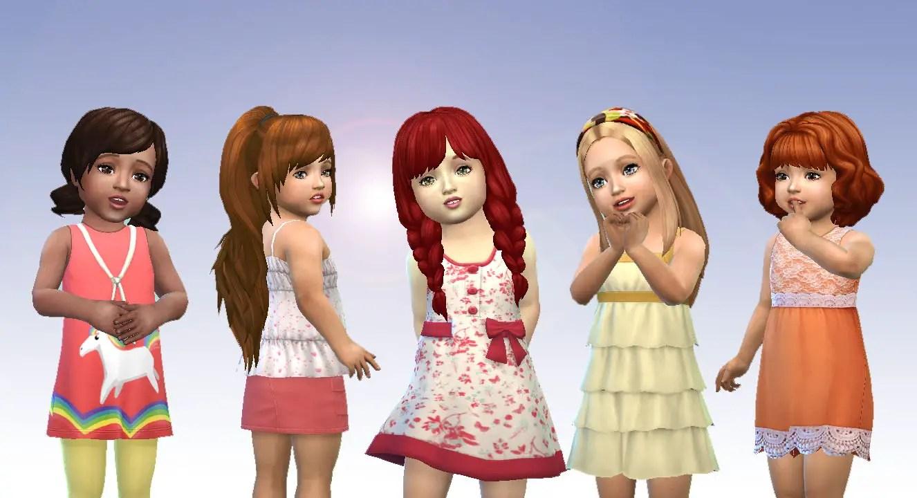 Sims 4 Hairs  Mystufforigin Toddlers Hair Pack 6