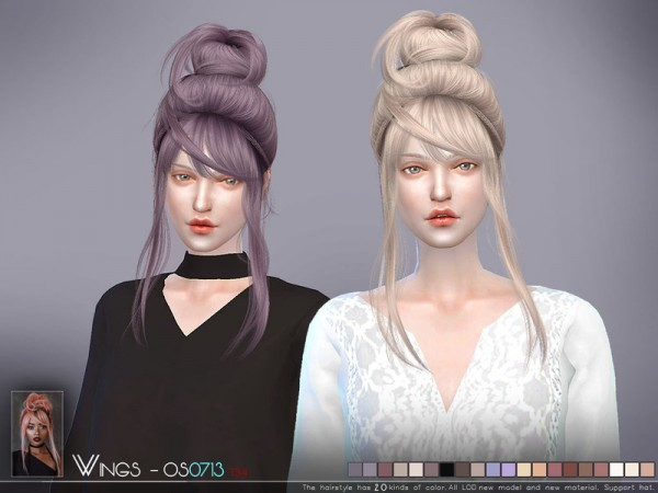 Sims 4 Hairs The Sims Resource WINGS OS0713 Hair