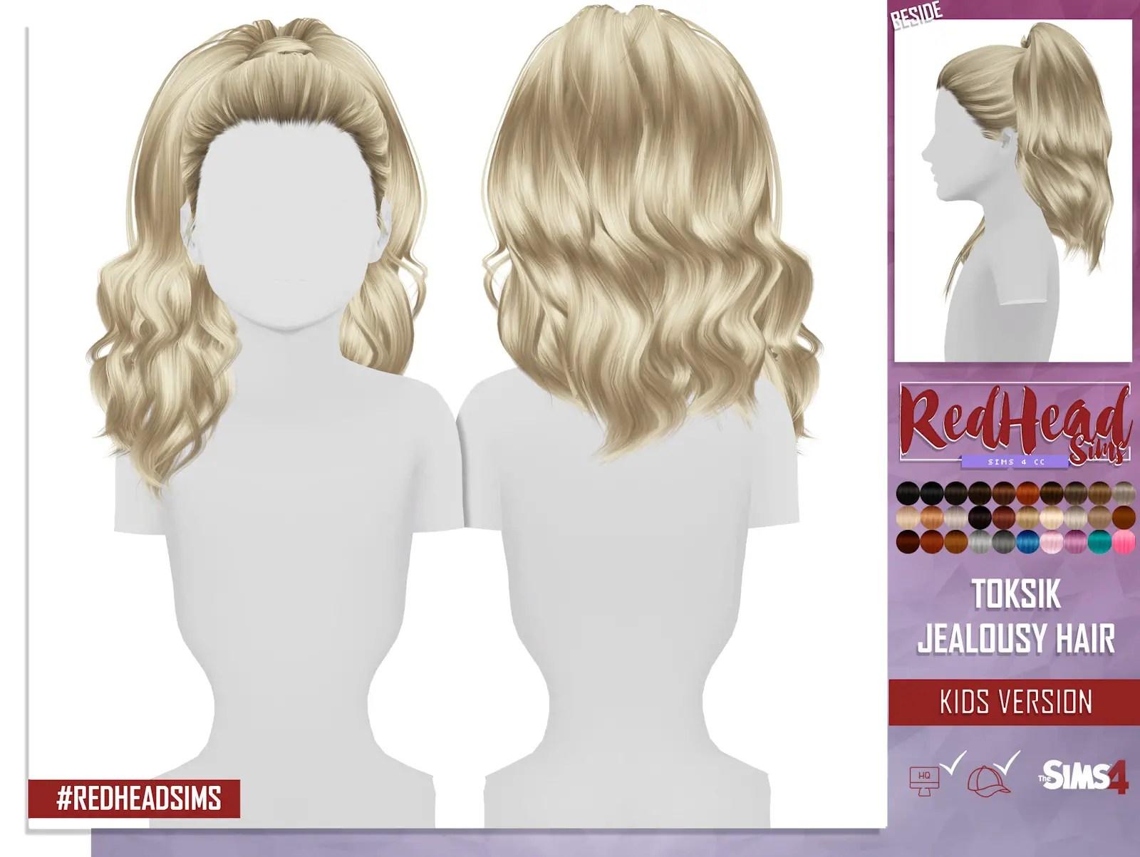 Sims 4 Hairs Coupure Electrique Toksik Jealous Hair