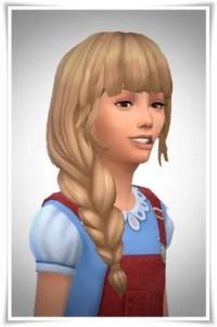 Sims 4 Hairs ~ Birksches sims blog: Side Braid Loose Hair