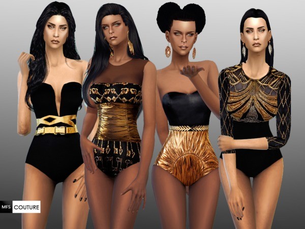 Black And Gold Set By MissFortune At TSR Sims 4 Nexus