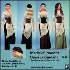 Sims 4 CC Medieval Peasant Dress