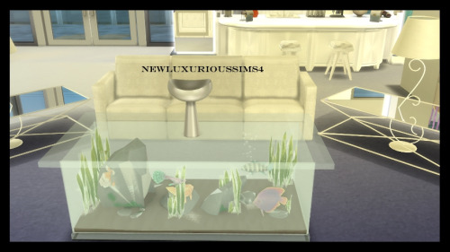 End Tables Sets For Living Room Newluxurioussims4 — Coffee Table Aquarium *functional
