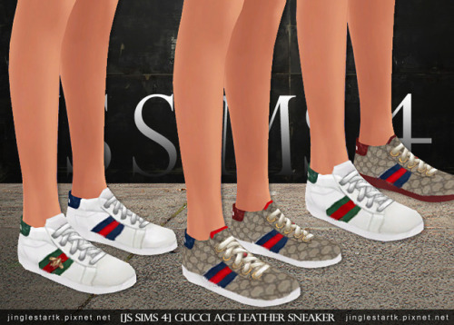 Js Sims 4 Gucci Ace Leather Sneaker Sims 4 Updates