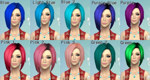19 Non Default Hair Recolors At Darkiie Sims4 Sims 4 Updates