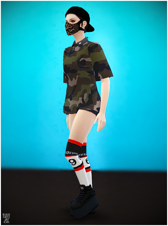 S4 Female big shirts at Blackle  Sims 4 Updates
