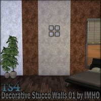 Decorative Stucco Walls 01 at IMHO Sims 4  Sims 4 Updates