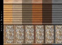 Log Cabin Interior Wall Set 18 Colors by mustluvcatz at