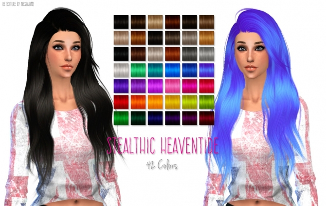 Hair retextures at Nessa Sims  Sims 4 Updates