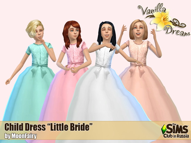 Vanilla Dream Little bride dresses at Everything for your sims  Sims 4 Updates