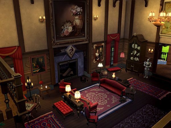 The Vampire Diaries Salvatores Mansion by Waterwoman at Akisima  Sims 4 Updates