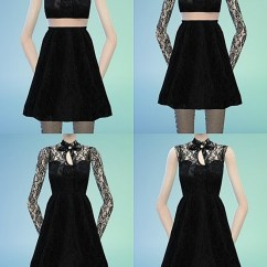 Build Kitchen Table Wire Storage Ribbon Lace Black Dress At Marigold » Sims 4 Updates