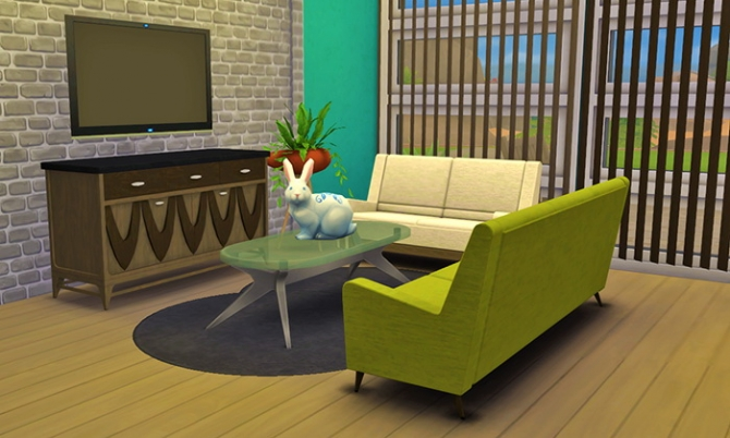 Mid Century Fantasy Set Conversion At Femme Jean Sims 4
