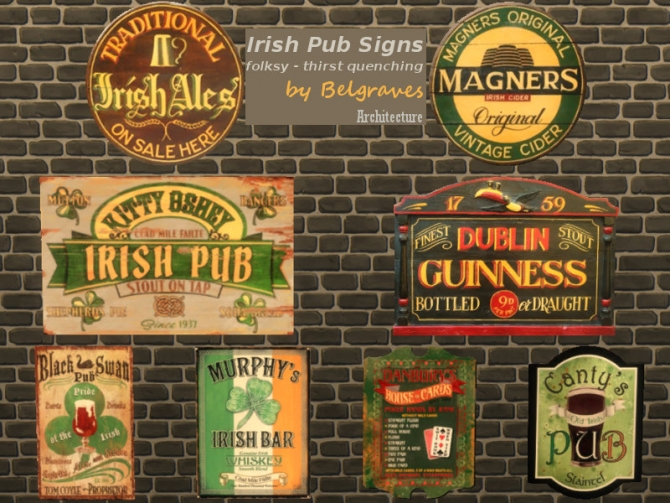 how to make an outdoor kitchen tuscany faucet irish pub signs at leander belgraves » sims 4 updates