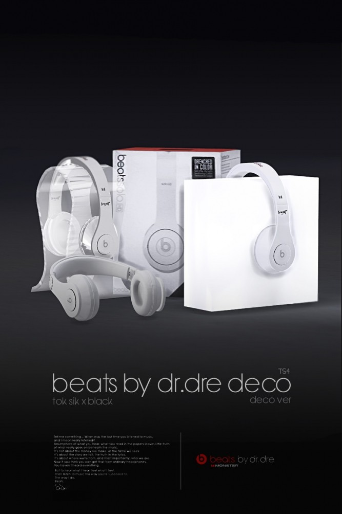 Beats by drdre decor at Blackle  Sims 4 Updates
