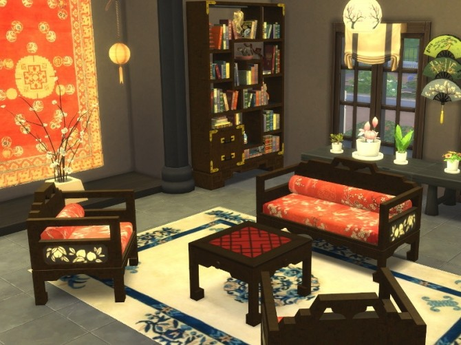 Asian Living Set at Leander Belgraves  Sims 4 Updates