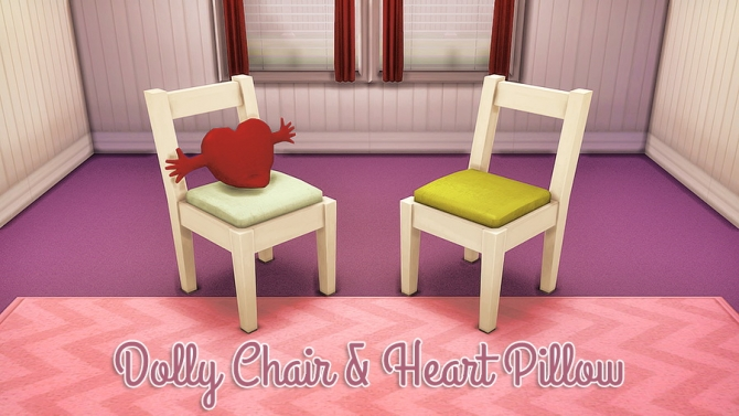 Dolly Chair Amp Heart Pillow At Femme Jean Sims 4 Updates