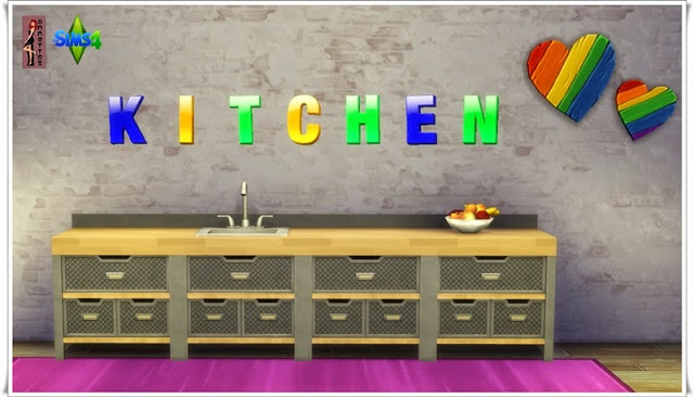 Letters Wall Tattoos at Annetts Sims 4 Welt  Sims 4 Updates