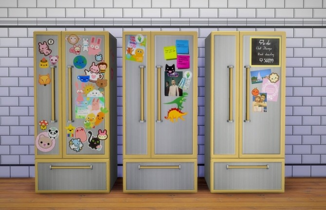 Sticker Fridge 20 at Budgie2budgie  Sims 4 Updates