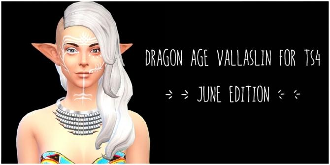 Dragon Age Inquisition Vallaslin June variation at