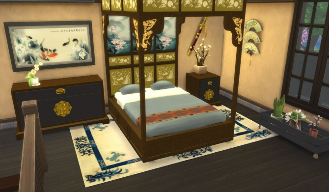 Asian Beds at Leander Belgraves  Sims 4 Updates