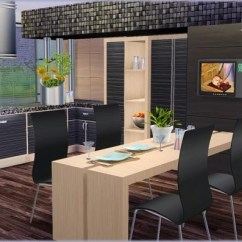 Kitchen Curtains Ideas White Flat Panel Cabinets Liscia At Simcredible! Designs 4 » Sims Updates
