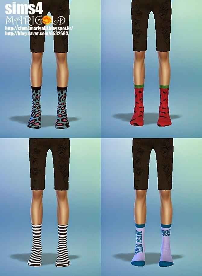 Calf socks 4 at Marigold  Sims 4 Updates