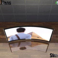 Bathroom Makeup Chair Linen Dining Slipcover Simsung Hd 4k Curved Tv By Sim4fun At Sims Fans » 4 Updates