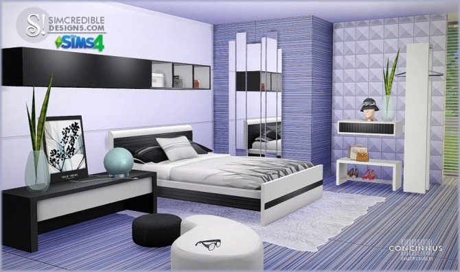 Concinnus bedroom at SIMcredible Designs 4  Sims 4 Updates