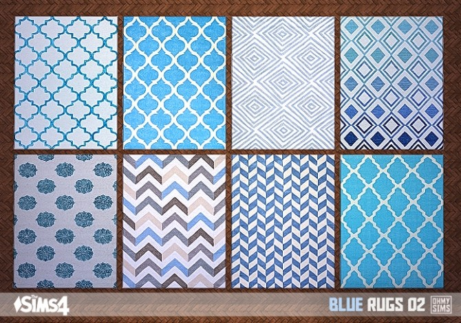 Blue rugs 03 at Oh My Sims 4  Sims 4 Updates