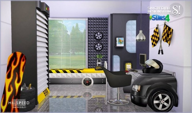 HiSpeed kids bedroom at SIMcredible Designs 4  Sims 4