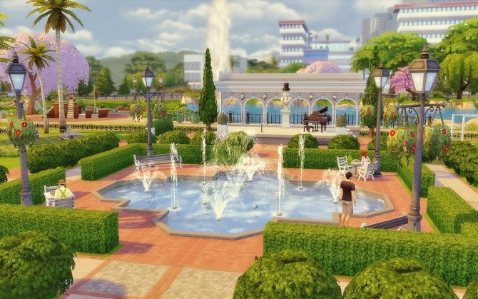 Newcrest Park at Via Sims  Sims 4 Updates