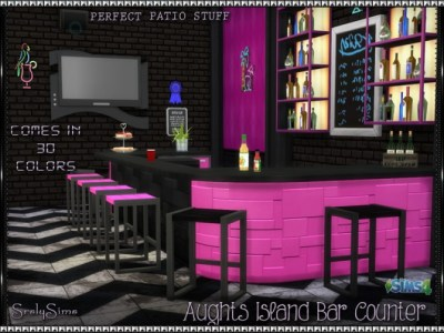 Aughts Island 'Bar' Counter at SrslySims » Sims 4 Updates