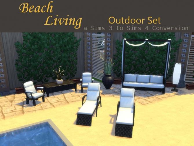 Beach Living Outdoor Set at Leander Belgraves  Sims 4 Updates