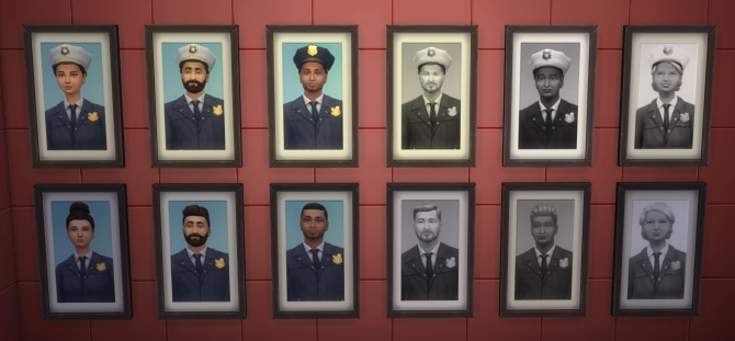 Police Chief Paintings By Nojrahm At Mod The Sims Sims 4