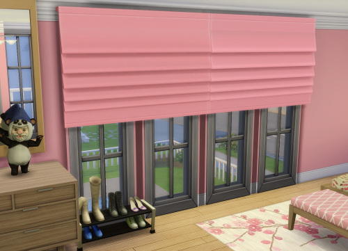 simple living room curtains farmhouse chic & blinds recolors at jorgha haq » sims 4 updates
