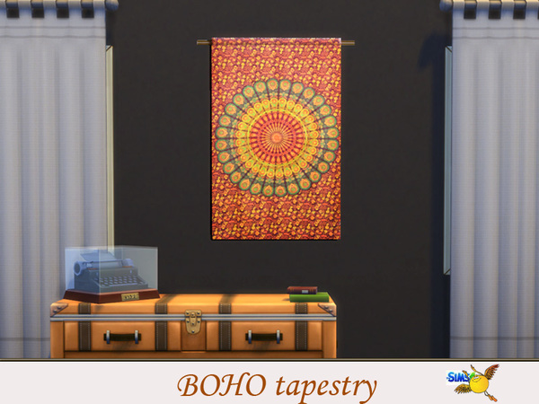 Boho Tapestry Set By Evi At TSR Sims 4 Updates